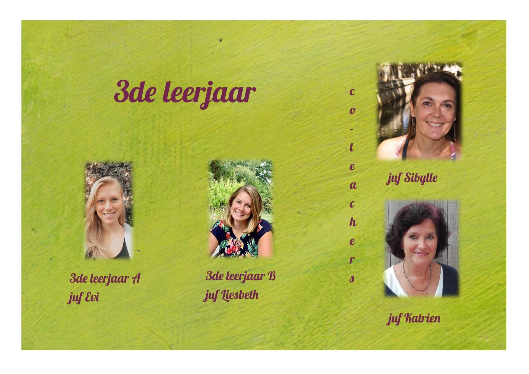 <p>3de leerjaar: juf Evi, juf Liesbeth, juf Sibylle en juf Katrien</p>