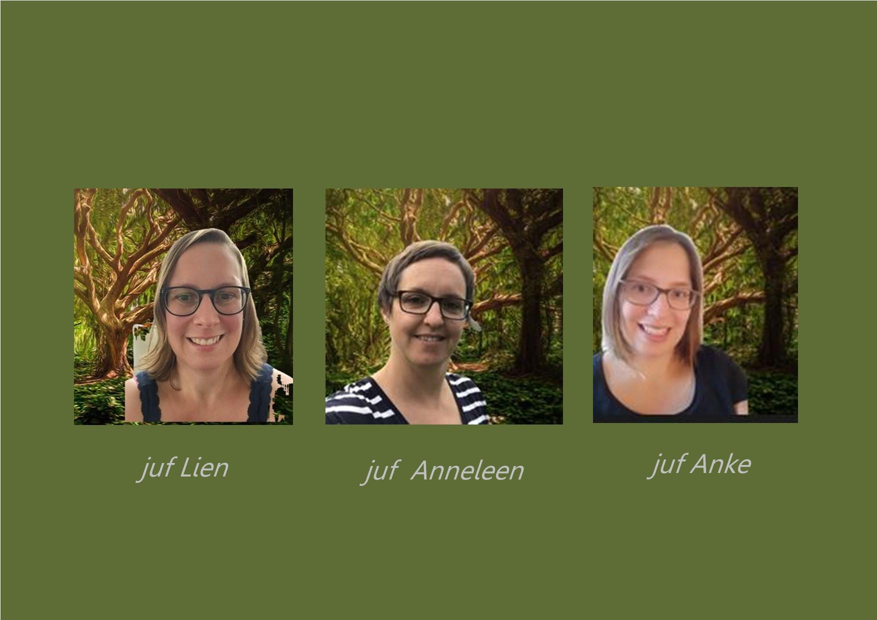 <p>1ste leerjaar: juf Lien en juf Anneleen, <br />co-teacher: juf Anke en juf Annelies</p>