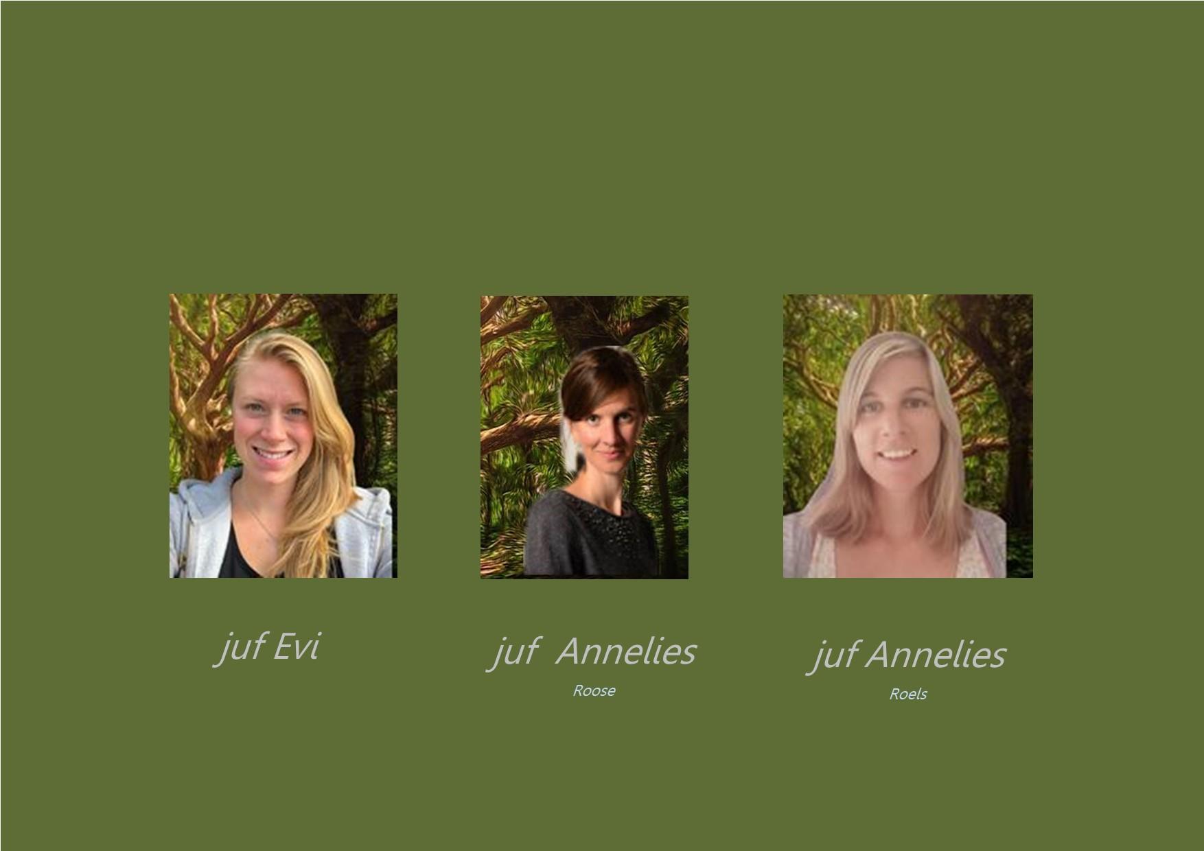 <p>3de leerjaar: juf Evi en juf Annelies Roose<br />co-teacher: juf Annelies Roels</p>