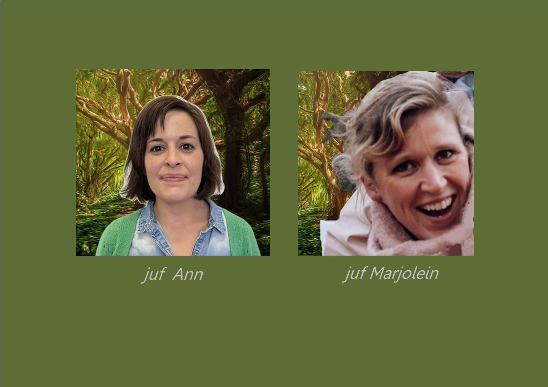 <p>taalondersteunend: juf Ann<br />'Bijsprong': juf Marjolein</p>