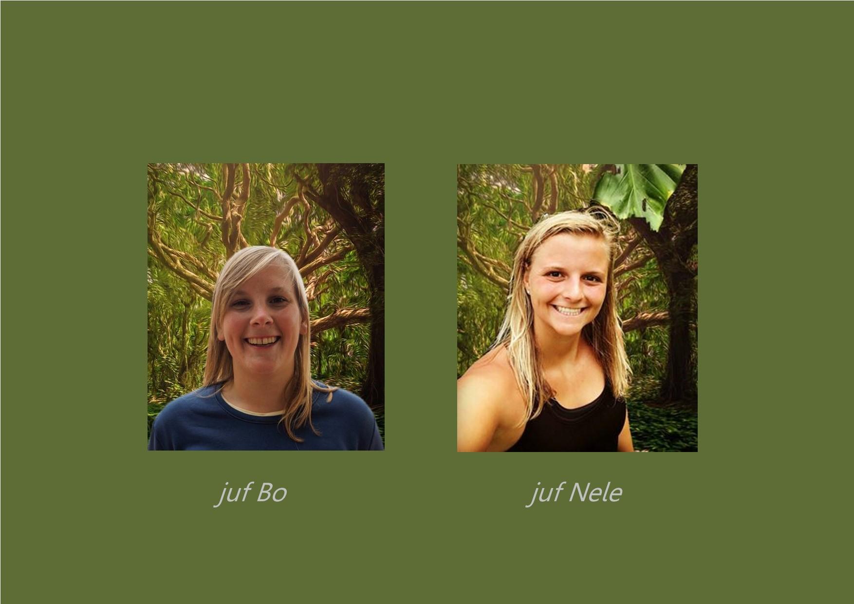 <p>bewegingsopvoeding: juf Bo en juf Nele</p>