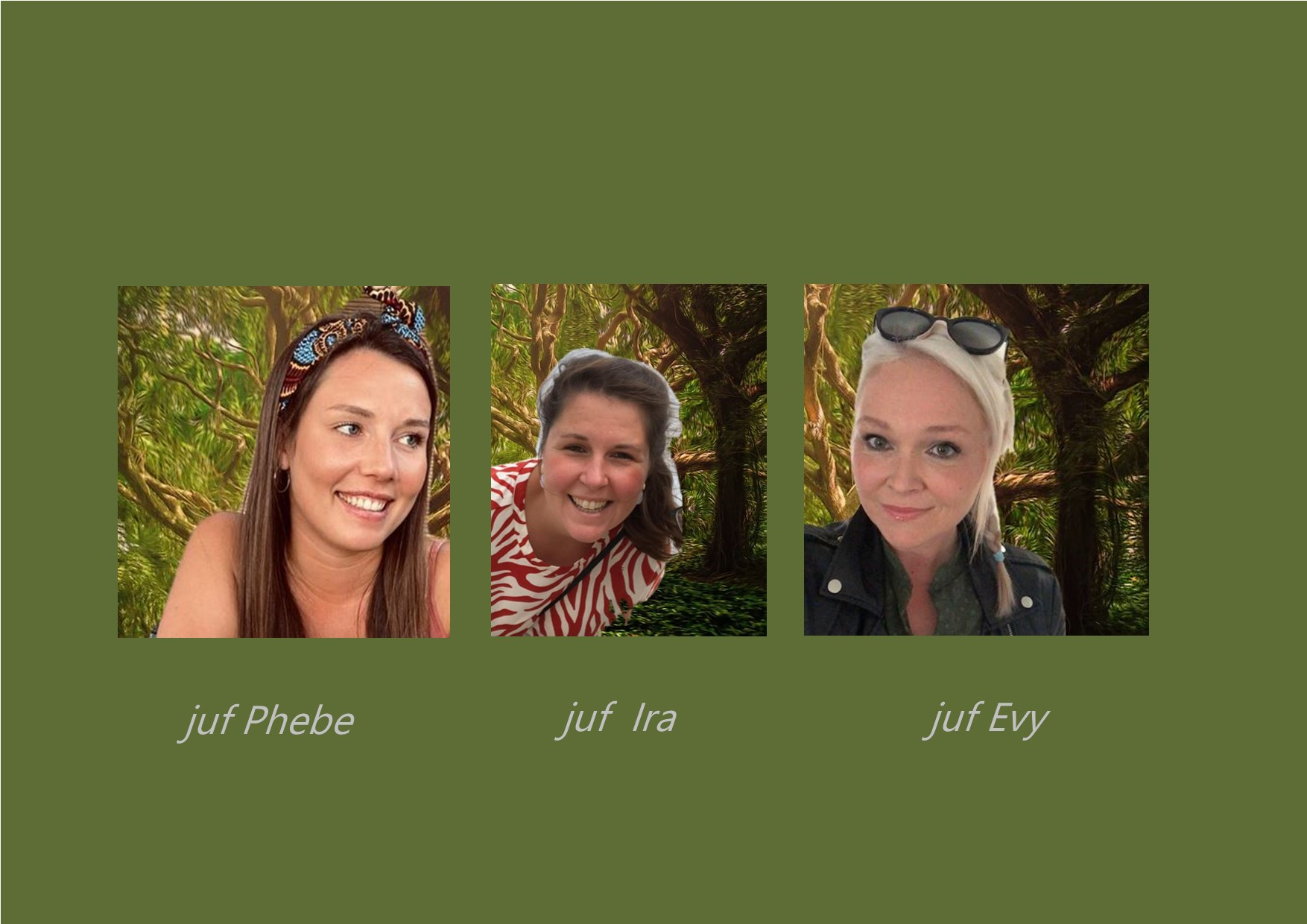 <p>eendjesklas: juf Phebe<br />co-teachers: juf Ira en juf Evy</p>