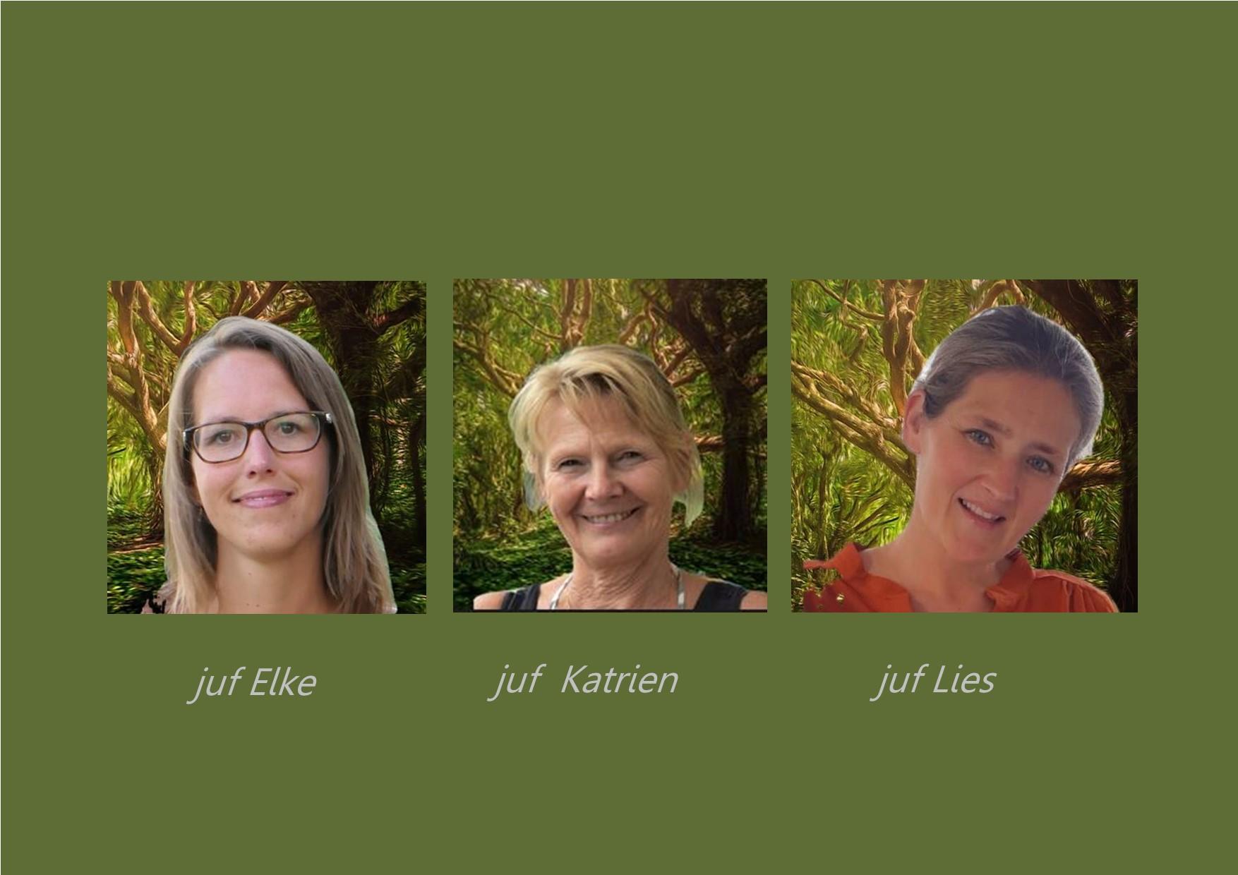 <p>2K: giraffenklas: juf Elke, <br />co-teachers: juf Katrien en juf Lies</p>
