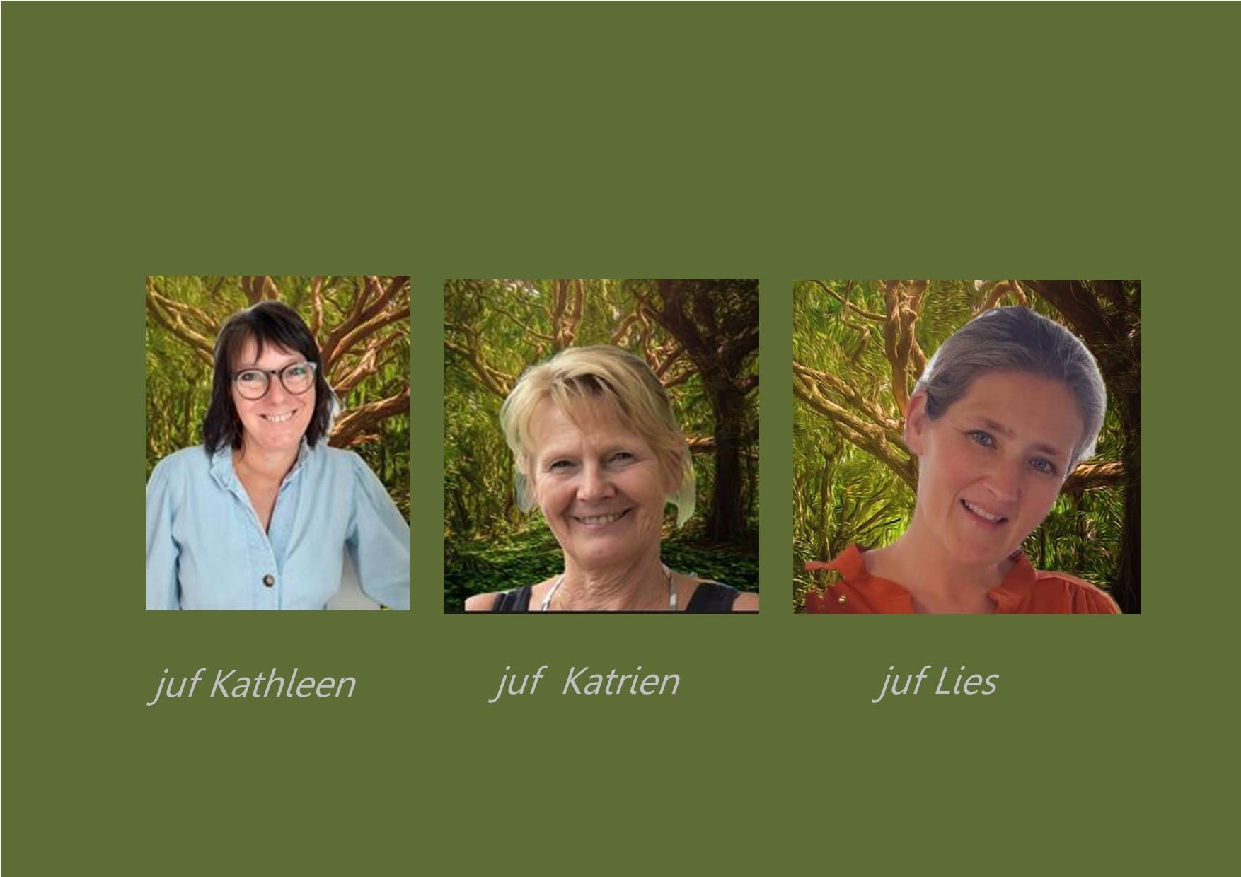 <p>2K: olifantenklas: juf Kathleen, <br />co-teachers: juf Katrien en juf Lies</p>