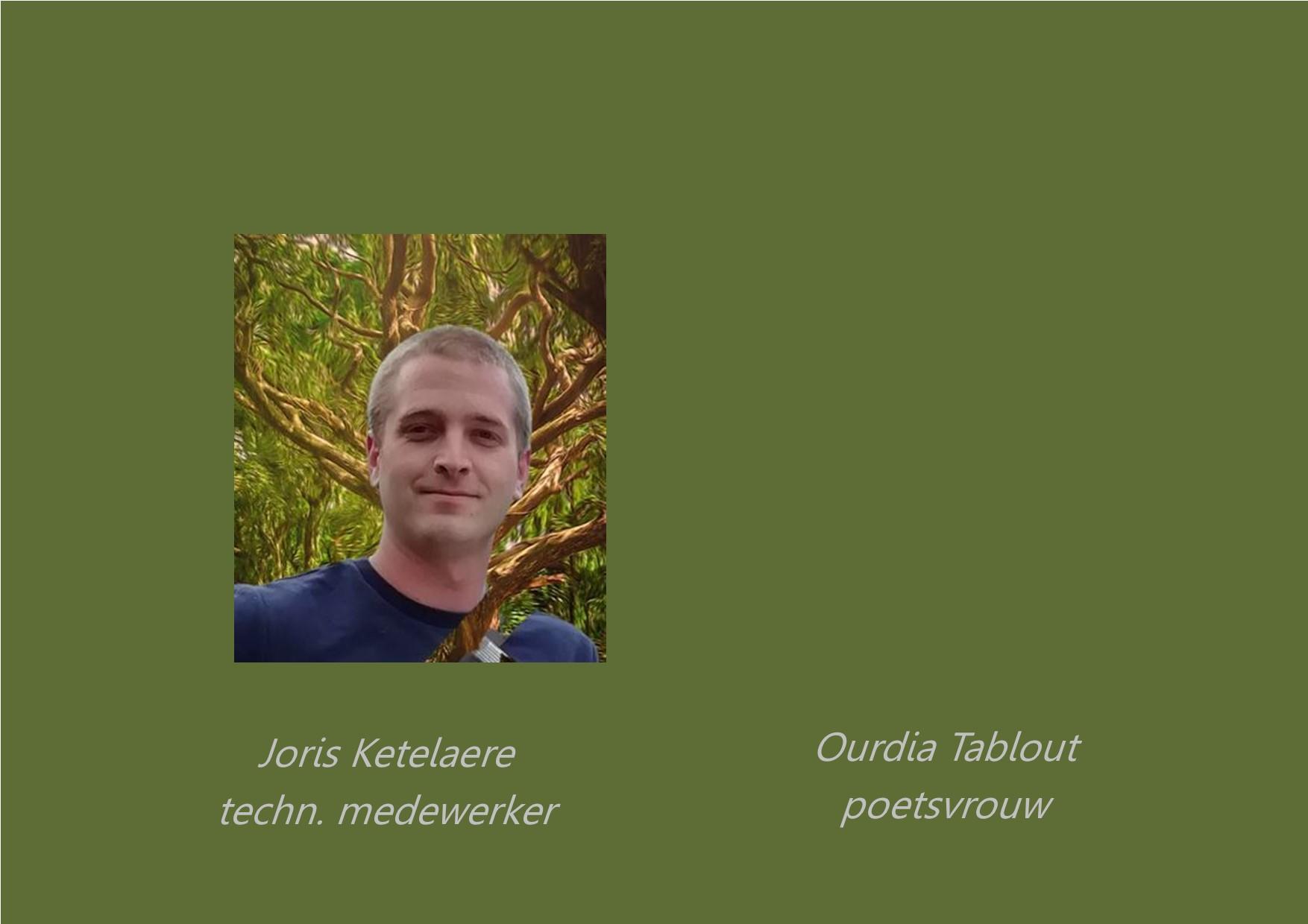 <p>onderhoudspersoneel: Joris Ketelaere en Ourdia Tablout</p>