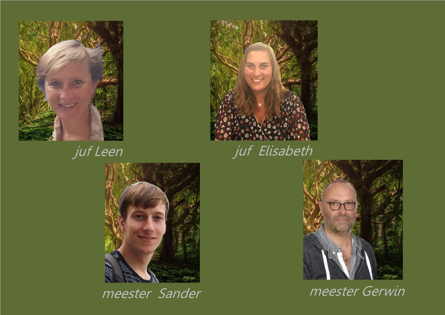 <p>6de leerjaar: juf Elisabeth, juf Leen en meester Sander<br />co-teachers: meester Gerwin en meester Sander</p> <p></p>